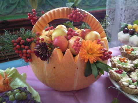 Для осени поделки из овощей